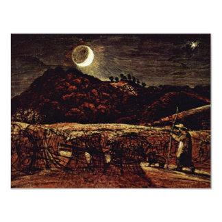 Campo de maíz en el claro de luna de Palmer Samuel Anuncios Personalizados