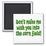 campo de maíz imán de frigorifico