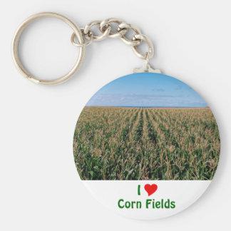 Campo de maíz llavero redondo tipo pin