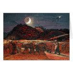 Campo de maíz por el claro de luna, 1830 tarjeta de felicitación