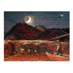 Campo de maíz por el claro de luna, 1830 tarjeta postal