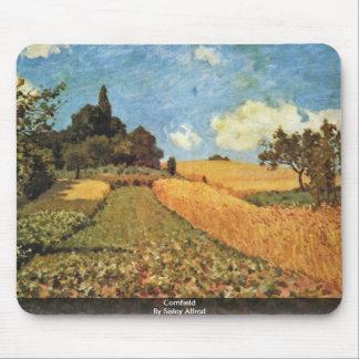 Campo de maíz por Sisley Alfred Tapete De Ratón