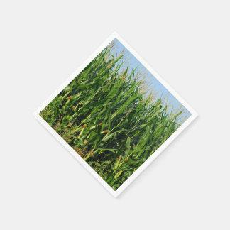 Campo de maíz servilleta de papel