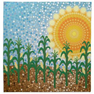 Campo de maíz servilletas