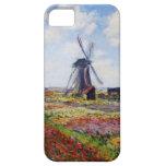 Campo de Monet de tulipanes con el caso del iPhone iPhone 5 Carcasas