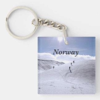 Campo de Noruega Llavero Cuadrado Acrílico A Una Cara