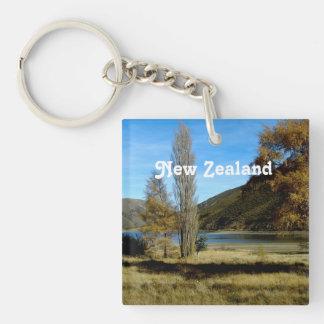 Campo de Nueva Zelanda Llavero Cuadrado Acrílico A Una Cara