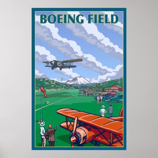 Campo de Seattle, Washington - de Boeing Póster