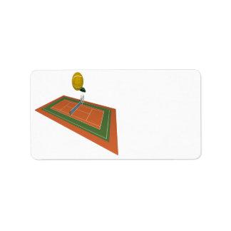 Campo de tenis etiquetas de dirección