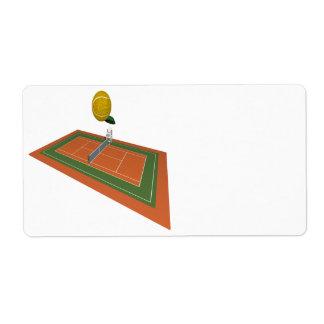 Campo de tenis etiquetas de envío