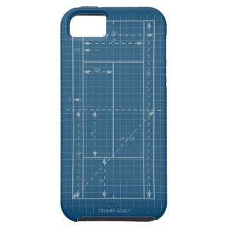 Campo de tenis iPhone 5 funda
