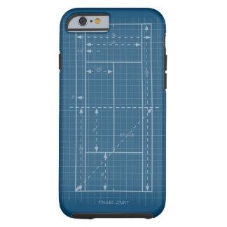 Campo de tenis funda para iPhone 6 tough