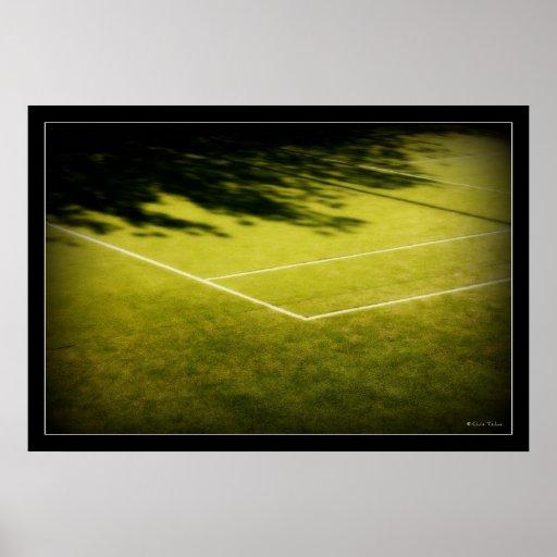 campo de tenis póster