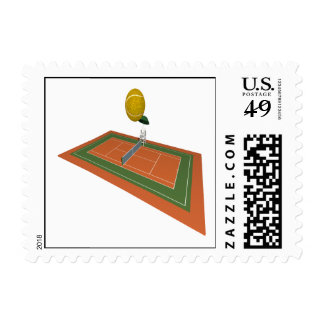 Campo de tenis sellos