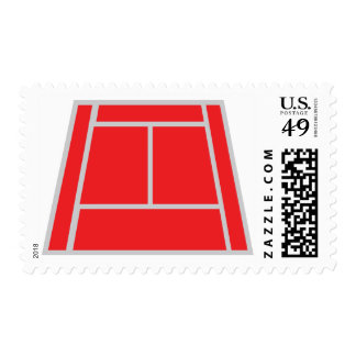 campo de tenis sello