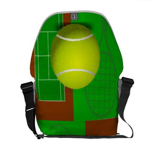 Campo de tenis y estafas bolsas de mensajeria