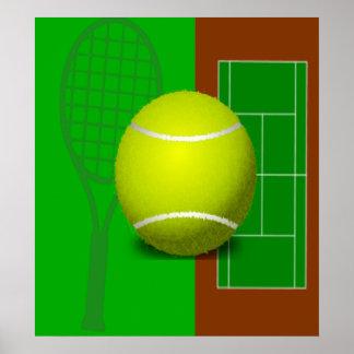 Campo de tenis y estafas posters