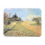 Campo de trigo (aceite en lona) imanes de vinilo