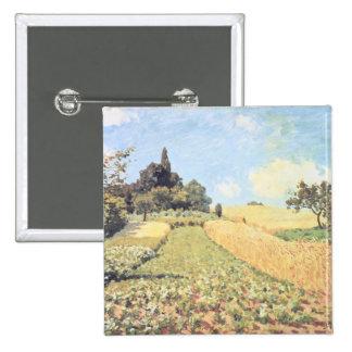 Campo de trigo (aceite en lona) pin cuadrado