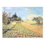 Campo de trigo (aceite en lona) tarjetas postales