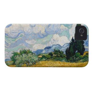 Campo de trigo con de los cipreses el iPhone 4 de  Case-Mate iPhone 4 Carcasas