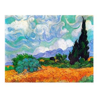 Campo de trigo con la bella arte de Van Gogh de Postales