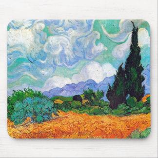 Campo de trigo con la bella arte de Van Gogh de Tapete De Ratón