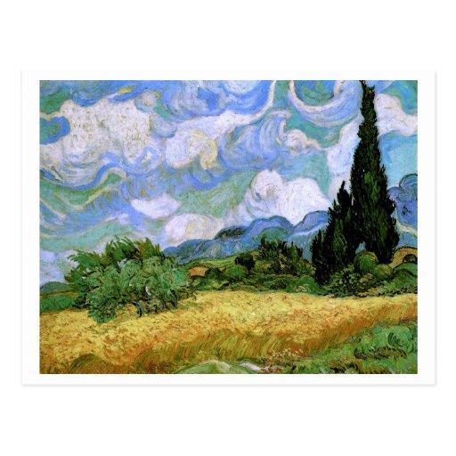 Campo de trigo con la bella arte de Van Gogh de Tarjeta Postal