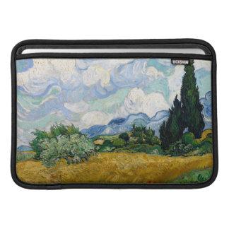 Campo de trigo con la manga de aire de Macbook de  Funda Macbook Air