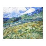 Campo de trigo con las montañas de Van Gogh Impresiones En Lona Estiradas