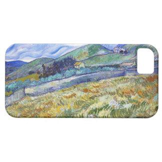Campo de trigo con las montañas en el fondo iPhone 5 Case-Mate carcasa