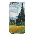 Campo de trigo con los cipreses de Vincent van Funda Para iPhone 6 Barely There