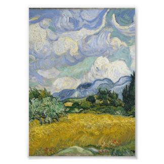 Campo de trigo con los cipreses de Vincent van Gog Fotografías