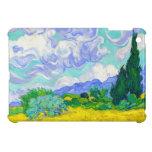 Campo de trigo con los cipreses de Vincent van Gog iPad Mini Carcasas