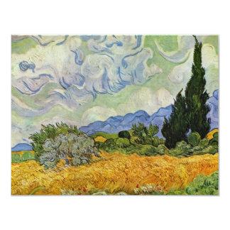 """Campo de trigo con los cipreses de Vincent van Invitación 4.25"""" X 5.5"""""""