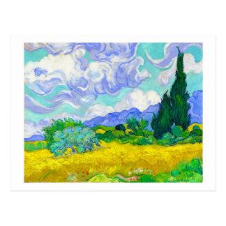Campo de trigo con los cipreses de Vincent van Postal