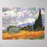 Campo de trigo con los cipreses, Vincent van Gogh Posters