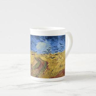 Campo de trigo con los cuervos de Van Gogh Taza De Porcelana