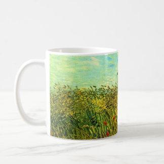 Campo de trigo con una alondra de Vincent van Gogh Taza Clásica