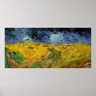 Campo de trigo conforme al poster de los cielos qu