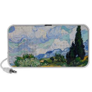 Campo de trigo de Van Gogh con los cipreses Laptop Altavoz