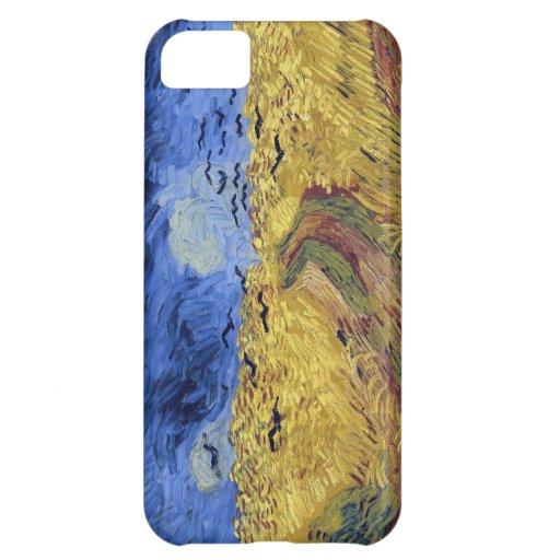 Campo de trigo de Van Gogh con los cuervos Funda Para iPhone 5C