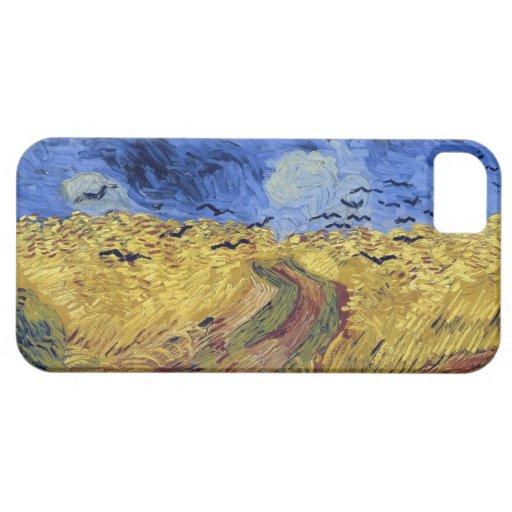 Campo de trigo de Van Gogh con los cuervos iPhone 5 Fundas