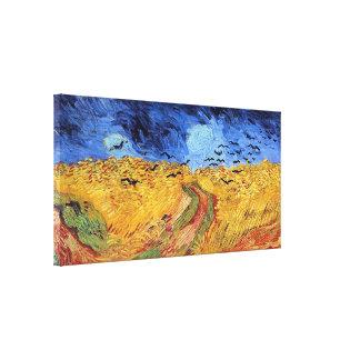 Campo de trigo de Van Gogh con los cuervos Impresión De Lienzo