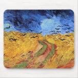 Campo de trigo de Van Gogh con los cuervos Mousepa Tapete De Ratones