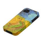 Campo de trigo de Van Gogh con los pájaros de la g Vibe iPhone 4 Funda