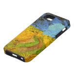 Campo de trigo de Van Gogh con los pájaros de la g iPhone 5 Case-Mate Fundas