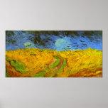 Campo de trigo de Van Gogh con los pájaros de la g Impresiones