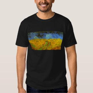 Campo de trigo de Van Gogh con los pájaros de la Playeras