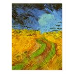 Campo de trigo de Van Gogh con los pájaros de la Postal